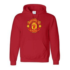 Manchester United Logo Soccer Pullover Hoodie
